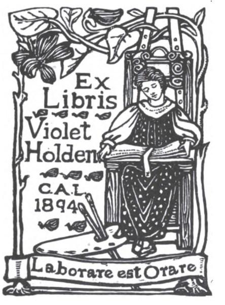 Violet Holden's book plate