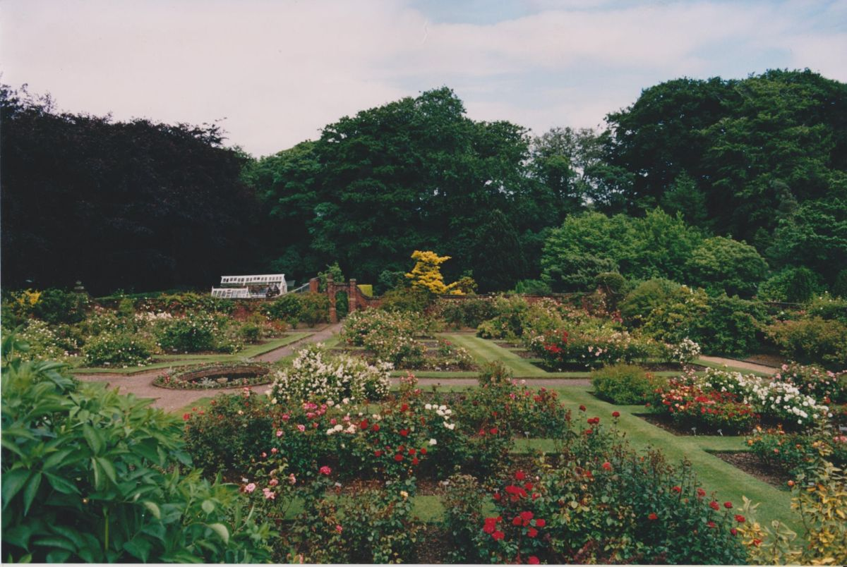 The Walled Garden in the 1990s, photograph by Anthony Spettigue, Now and Then June, Winterbourne House and Garden, Digging for Dirt