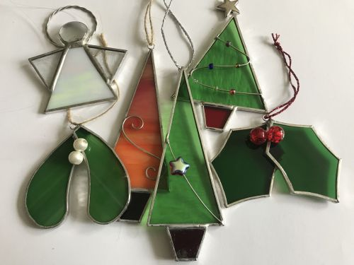 stained glass christmas decorations - Glass Christmas Decorations