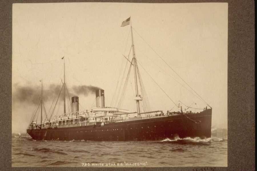 S. S. Majestic ©New York Port, Ship Images, 1851-1891 via ancestry.co.uk, News from the Archives, Digging for Dirt, Winterbourne House and Garden