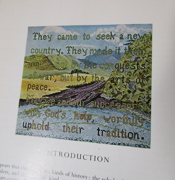 Panel worked by Lois reproduced in 'They Made it Their Home'