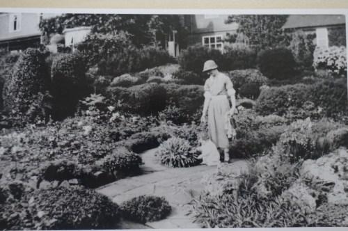 Jennifer Selby in the sunken garden at Winterbourne, taken in 1937