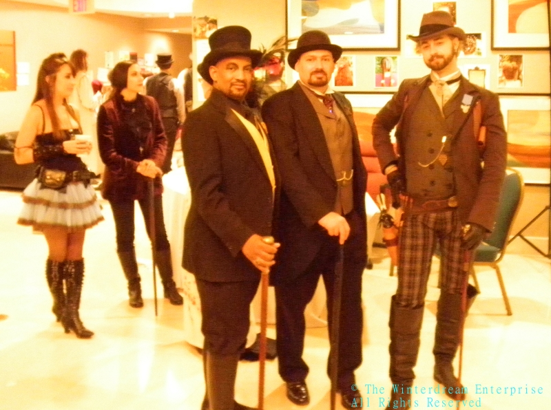 Some of the fine folks at the Faire.  (Not a sepia or sepia effect, hotel lighting does this!)