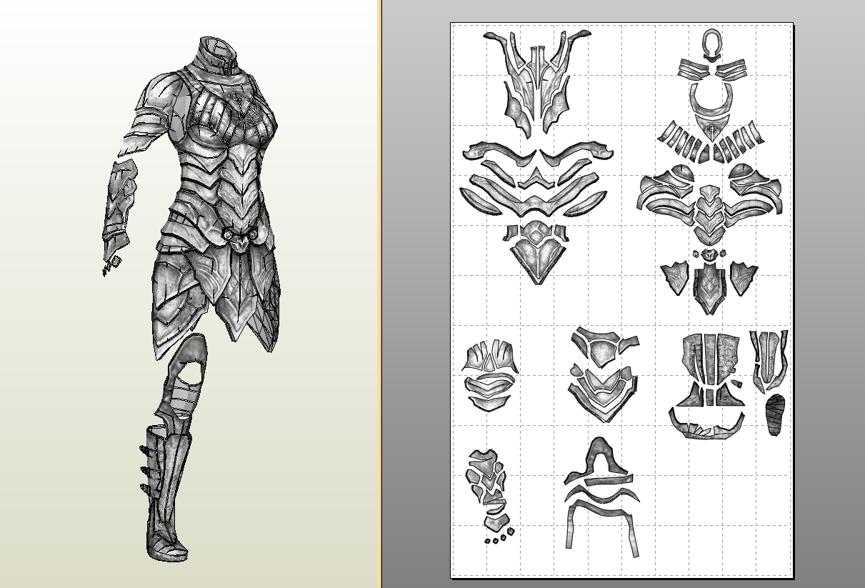 Pepakura Templates  destiny titan iron companion male chest plate