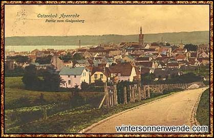 Postkarte von Apenrade, 1920.