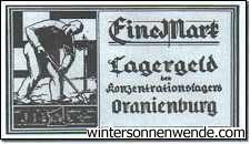 Oranienburg, eine Mark