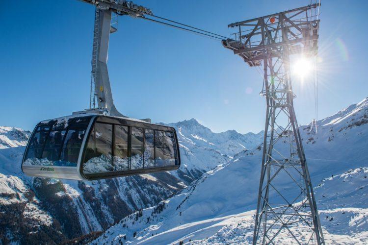 Cable car Grimentz-Zinal Val d'Anniviers Valais