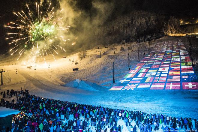 Skishow in St Anton am Arlberg
