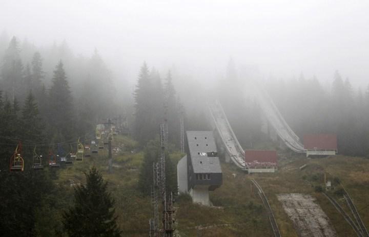 verlaten skigebied van mount igman