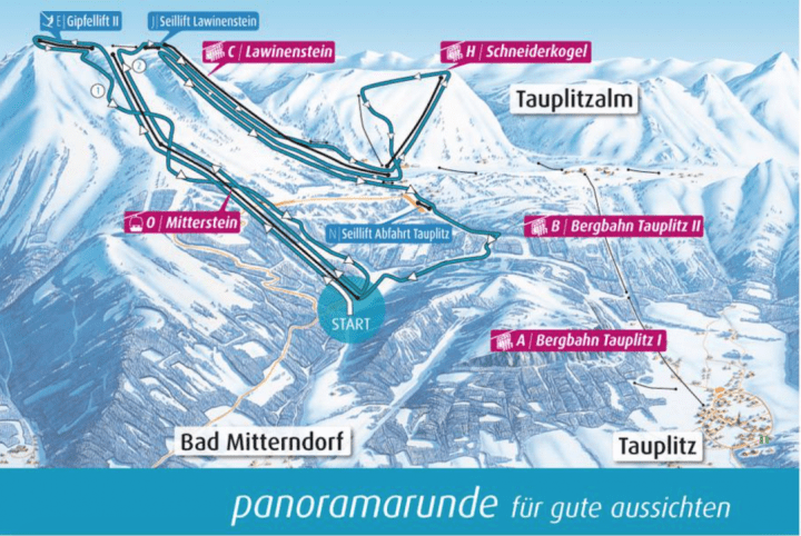 Skiroute Die Tapuitz 2