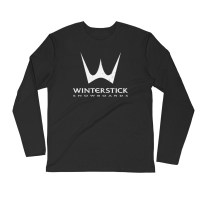 Winterstick Classic Trident Logo Long Sleeve Fitted Crew   Black