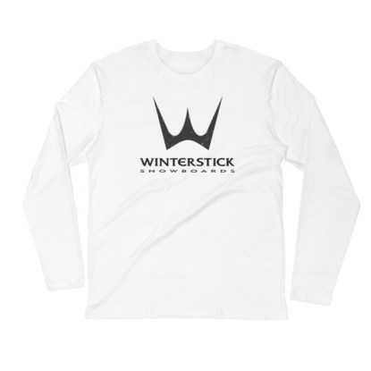 Winterstick Classic Trident Logo Long Sleeve Fitted Crew | White