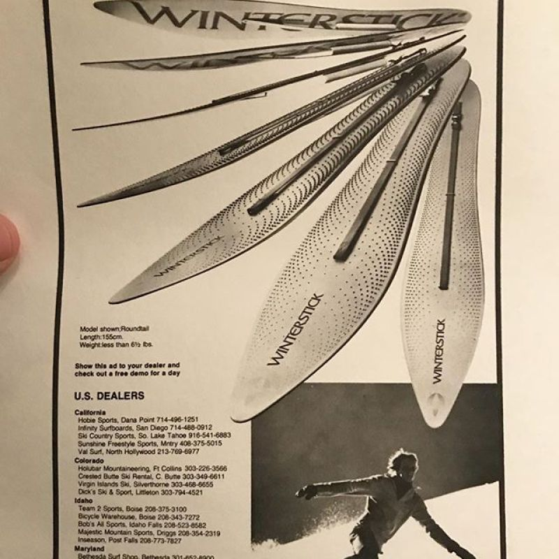 The Snow Surfboard. #winterstick #blastfromthepast #originalsnowsurfcompany #since1972