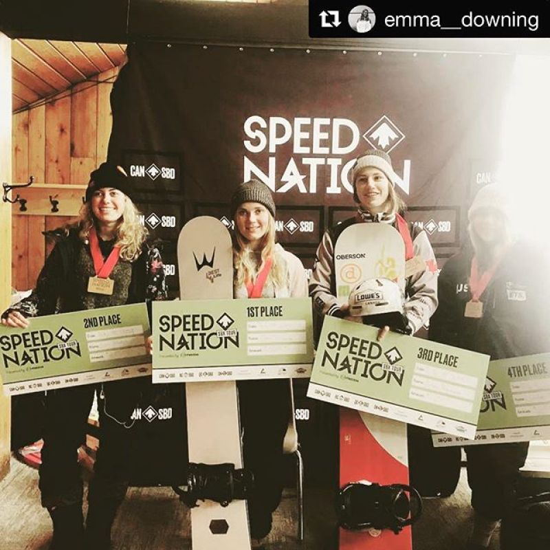 Besides our world class free-ride and powder boards, we also make super fast Custom SBX and Banked SL boards too! @emma__downing with @get_repost・・・Stoked to grab my first NorAm win! A big congrats to @_tinataylor_ on her 磊yesterday and to @liviamolodyh on 2x賂 • •  @wintersticksnowboards  @girosnow  @sugarloafmountain  @northernoutdoorsmaine