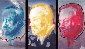Joe Brockerhoff. Portrait Kurt Masur, Triptychon