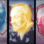 Joe Brockerhoff - Kurt Masur, triptychon - painting