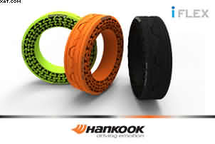 The Hankook Tyres non-pneumatic tyres