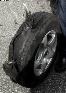 worn tyres