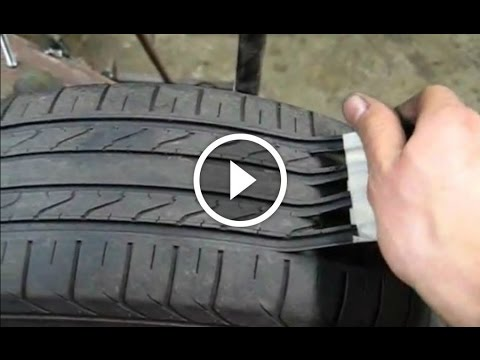 Here's How Scam Artists Make Old Tires That Are Unsafe Look Like New Again!