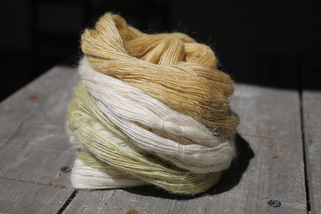 silk and kid mohair handspun lace yarn Winterwind Farm - roubaix wool