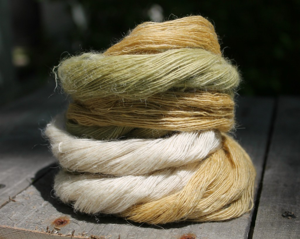 silk and kid mohair lace yarn. Winterwind Farm - roubaix wool