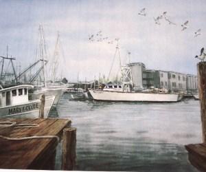 Cape May Fishing Fleet Print