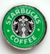 Starbucks Coffee Floating Charm for Forever in My Heart Locket Jewelry