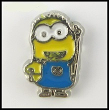 Despicable Me Minion Floating Charm for Forever in My Heart Locket Jewelry