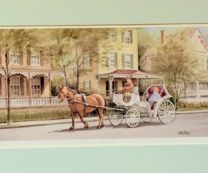 Horse & Buggy.-Matted Unframed Print by Ken Frye
