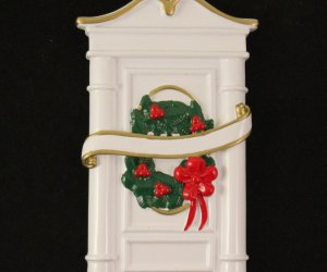 White Door Personalized Home Ornament