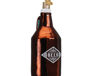 Beer Growler Old World Glass Ornament