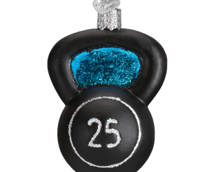 Kettlebell Old World Glass Ornament