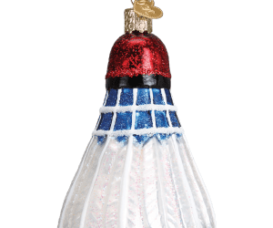 Badminton Birdie Old World Glass Ornament