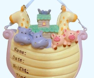Baby's First Christmas Noah's Ark Personalized Ornament