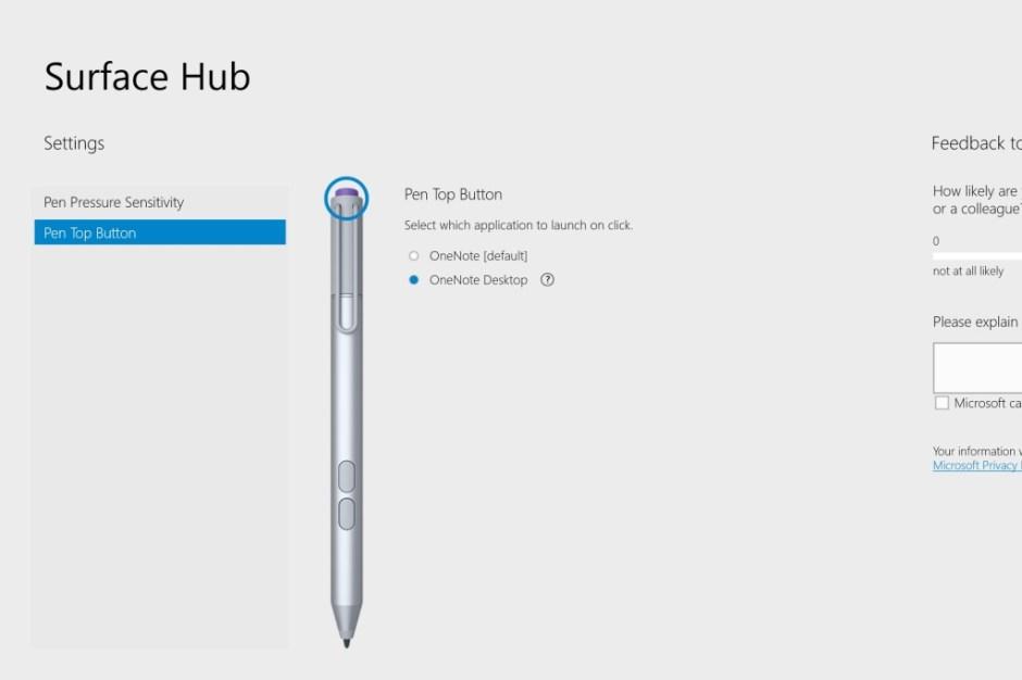 Surface Hub App Button
