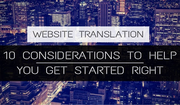 website translation-getting started
