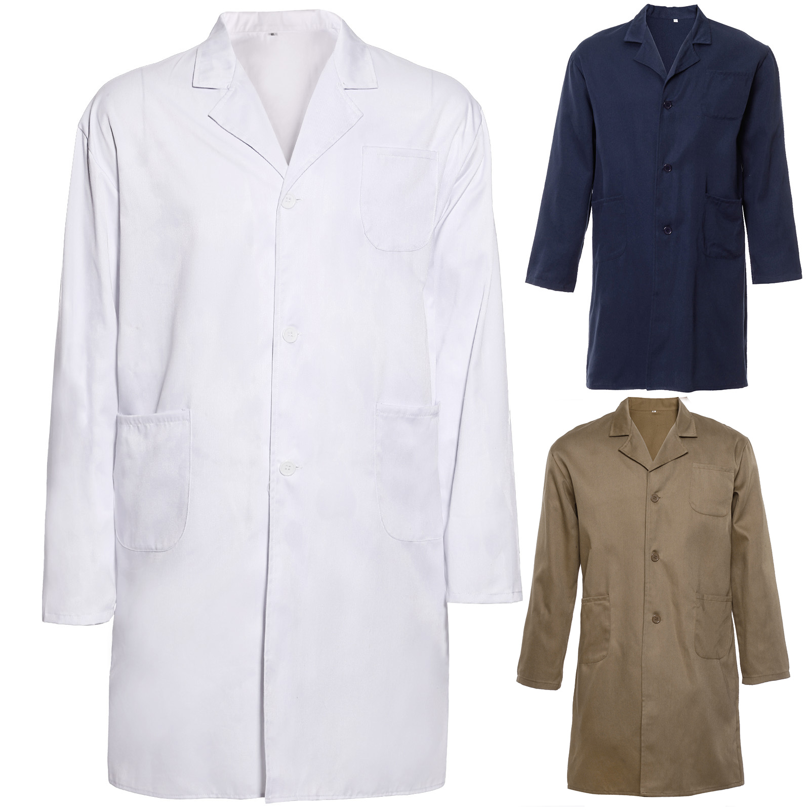 Mens Doctor Costume Lab Coat Medical Surgeon Adult Doctors