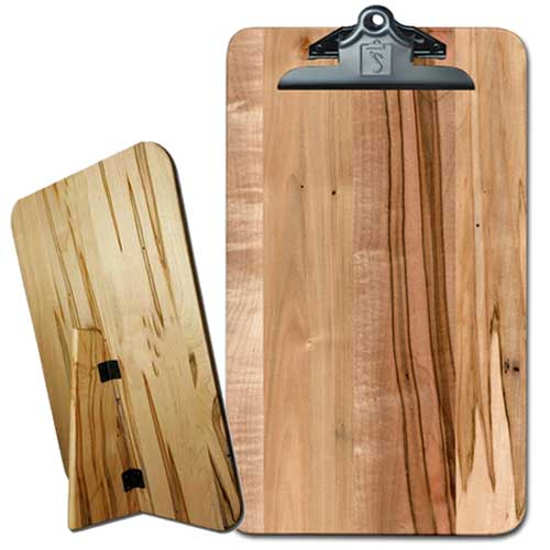 Freestanding Wooden Menu Clipboard with custom engraving