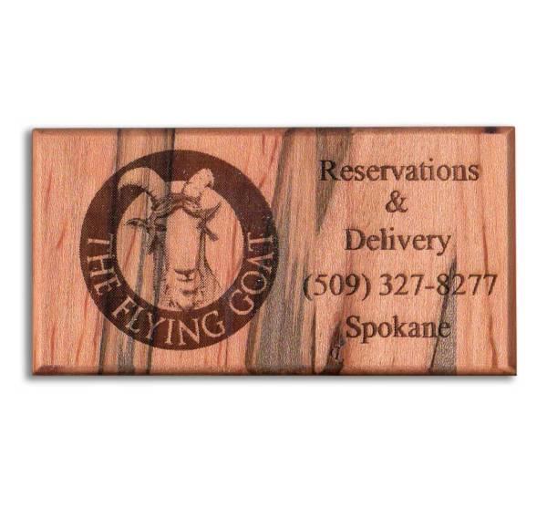 Wood Business Card Refrigerator Magnets - WinWoodDesigns.com