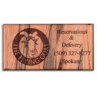 Wood Business Card Refrigerator Magnets - WinWoodDesigns.com