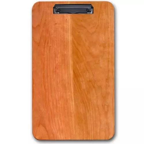 Warm Cherry Custom Hardwood Custom Engraved Restaurant Large Menu Clipboard