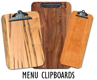 Custom Menu Clipboards for restaurants, bars and cafes