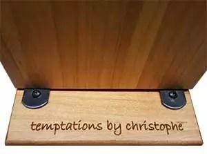 Custom Engraved Wood Tabletop Menu Clip Board