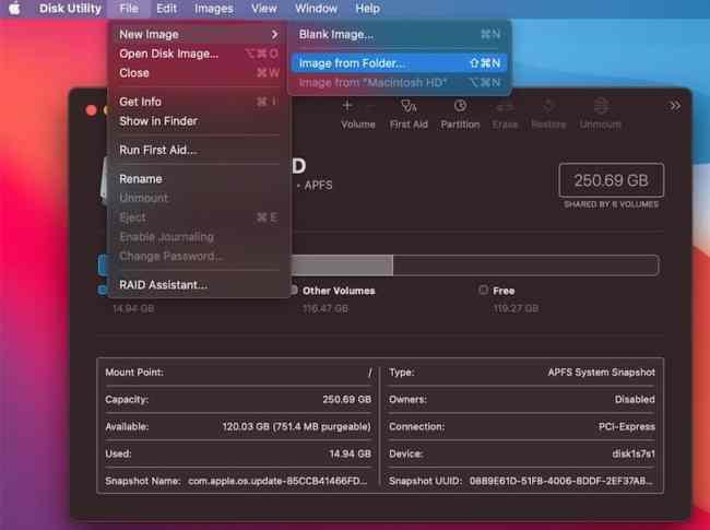 macOS Big Sur bootable dmg file