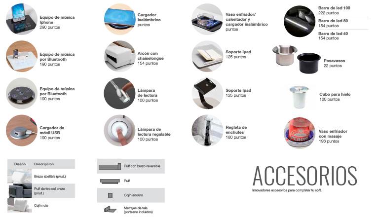 Accesorios para sofás