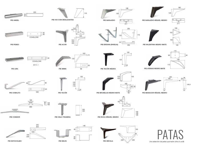 Selección de patas para sofá