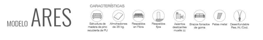 Características sofá Ares, Wiosofas