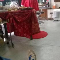 La Babba Natala fotografata da una cliente a sgamo