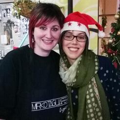 La nostra Elisa insieme all'incorruttibile aiutante di Mirko, Sara