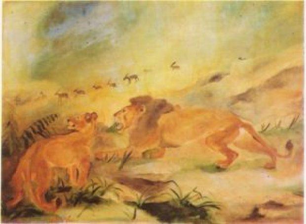 leone con leonessa